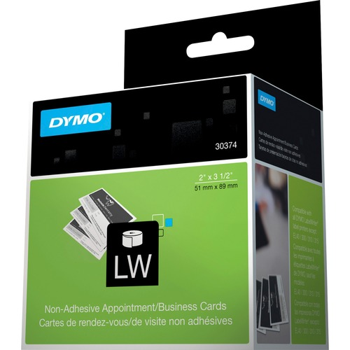 Dymo Direct Thermal Business Card - White