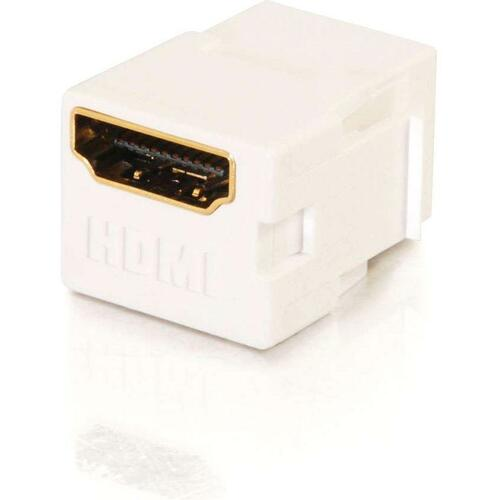C2G Snap In HDMI F/F Keystone Insert Module   White 300/500