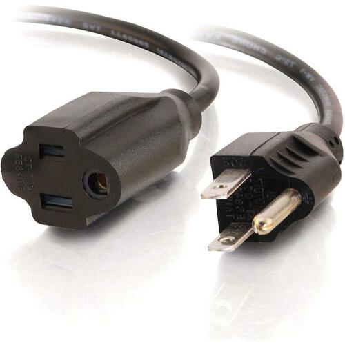 C2G 2ft 16 AWG Outlet Saver Power Extension Cord (NEMA 5-15P to NEMA 5-15R)