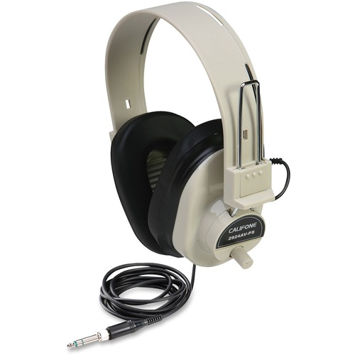 Califone Ultra Sturdy Stereo Headphone W/ Vol Cntrl
