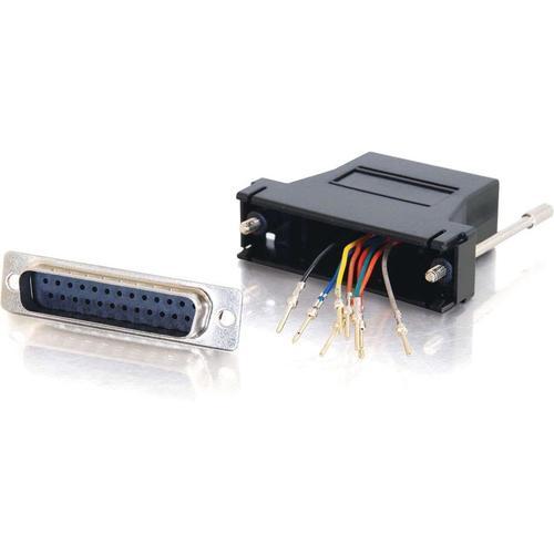 C2G RJ45 To DB25 Male Modular Adapter   Black 300/500
