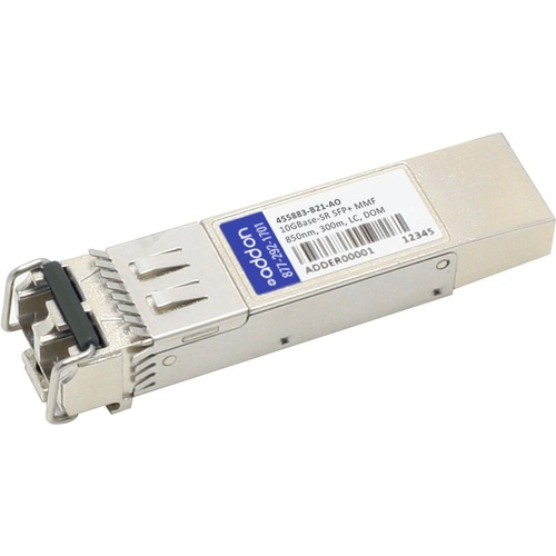 AddOn HP 455883-B21 Compatible TAA Compliant 10GBase-SR SFP+ Transceiver (MMF, 850nm, 300m, LC, DOM)
