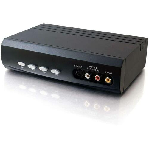 C2G 4x2 S Video + Composite Video + Stereo Audio Selector Switch 300/500