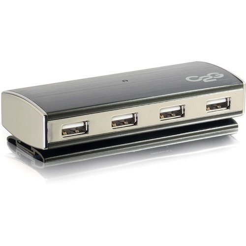 C2G 4 Port USB Hub For Chromebooks, Laptops, And Desktops USB 2.0 Aluminum Hub 300/500