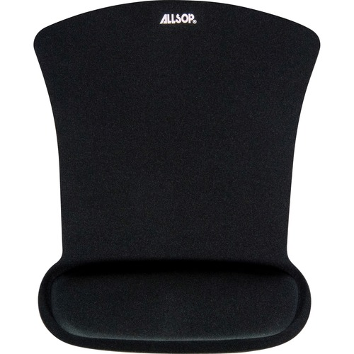Allsop Ergoprene Gel Mouse Pad with Wrist Rest - Black - (30191)