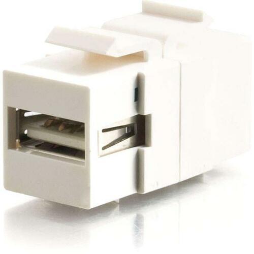 C2G Snap-In USB A/B Female Keystone Insert Module - White
