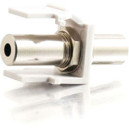 C2G Snap-In 3.5mm Stereo F/F Keystone Insert Module - White