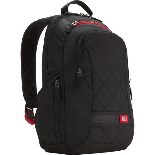 "Case Logic DLBP-114 Carrying Case (Backpack) for 13"" to 15"" Notebook - Black"