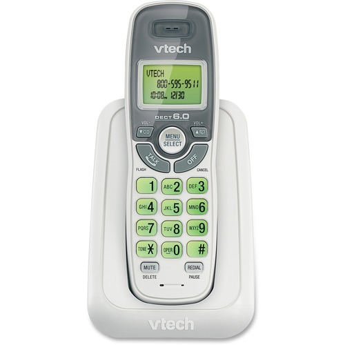 VTech CS6114 DECT 6.0 Cordless Phone With Caller ID/Call Waiting, White With 1 Handset 300/500