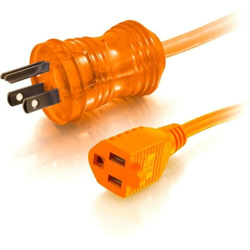 C2G 75ft 16 AWG Hospital Grade Power Extension Cord (NEMA 5-15P to NEMA 5-15R) - Orange