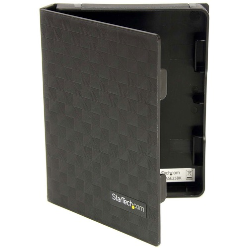 StarTech.com 2.5in Anti Static Hard Drive Protector Case   Black (3pk) 300/500