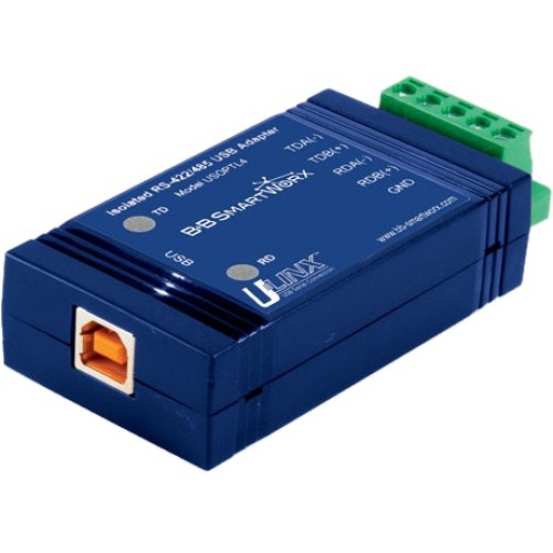 USB to Isolated 422/485 w/Plug Terminal Block and LEDs - B+B SmartWorx