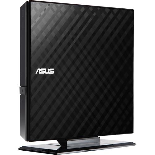 ASUS External Slim Black 8X DVD-RW Stylish Diamond Cut Design Optical Drive SDRW-08D2S-U/B/G/ACI/AS