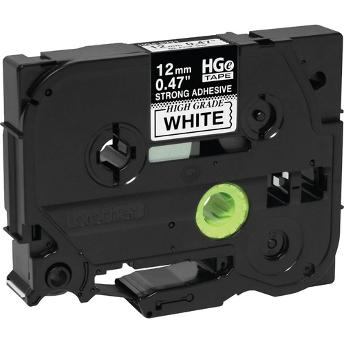 Brother HGES2315PK Black on White Extra-Strength Adhesive Label Tape