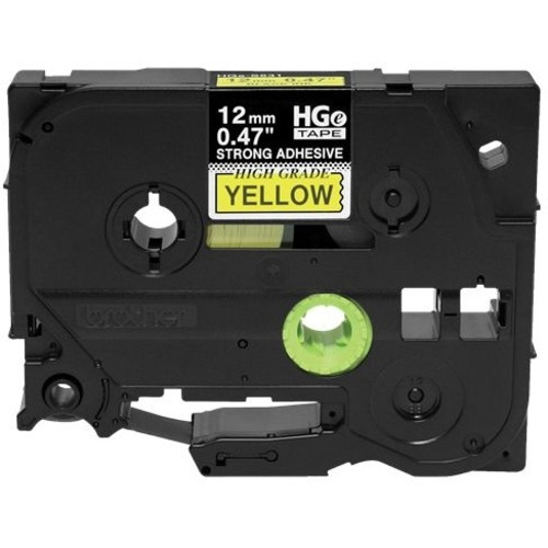 Brother HGES6315PK Black on Yellow Extra-Strength Adhesive Label Tape