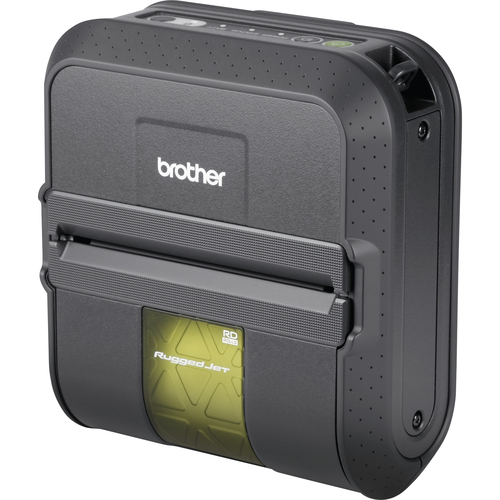 Brother RuggedJet RJ4040-K Direct Thermal Printer - Monochrome - Portable - Label Print - USB - Serial - Battery Included