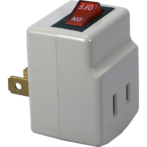QVS Single Port Power Adaptor With Lighted On/Off Switch 300/500