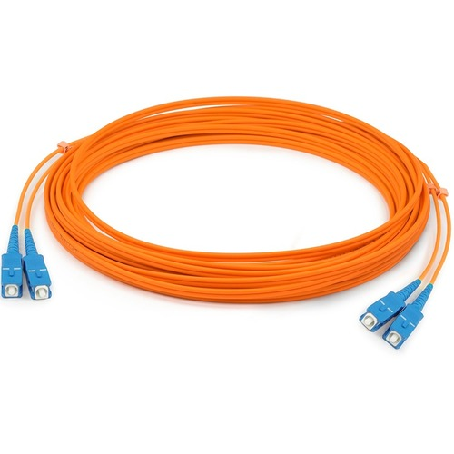 AddOn 3m SC (Male) to SC (Male) Orange OM1 Duplex Fiber OFNR (Riser-Rated) Patch Cable