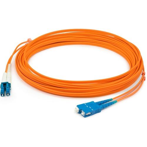 AddOn 3m LC (Male) to SC (Male) Orange OM1 Duplex Fiber OFNR (Riser-Rated) Patch Cable