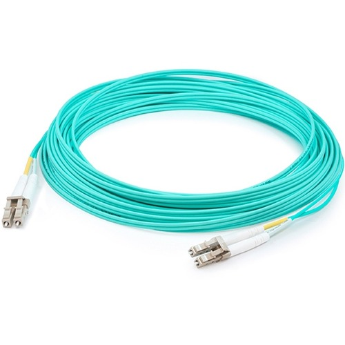 AddOn 30m LC (Male) to LC (Male) Aqua OM4 Duplex Fiber OFNR (Riser-Rated) Patch Cable