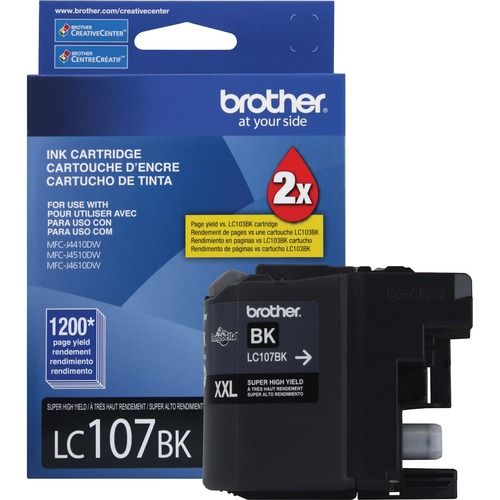 Brother Genuine Innobella LC107BK Super High Yield Black Ink Cartridge