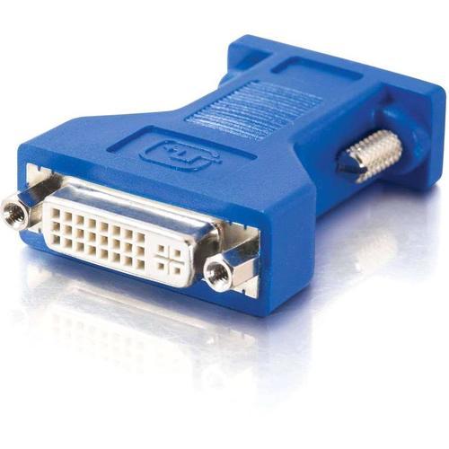 C2G DVI to VGA Video Adapter - 1 x DVI-A Female Video - 1 x HD-15 Male - Black