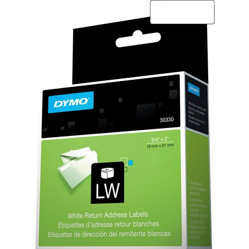 """Dymo LW Return Address Labels 3/4"""" X 2"""" 300/500"""
