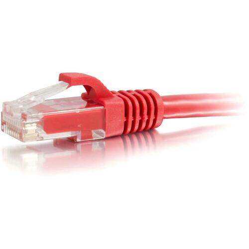 C2G-30ft Cat5e Snagless Unshielded (UTP) Network Patch Cable - Red