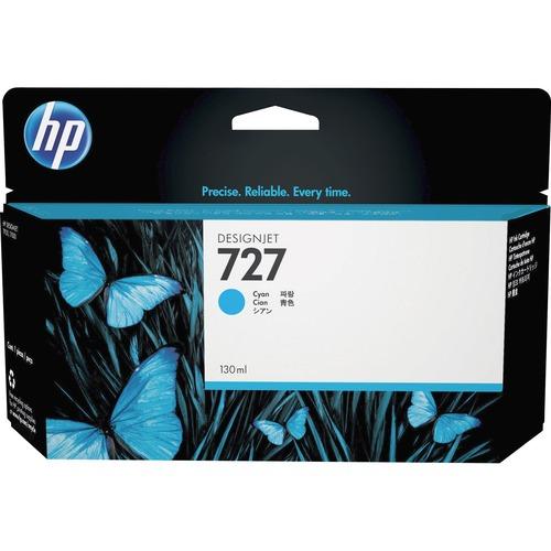 HP HEWB3P19A 727 Ink Cartridge, Cyan Standard Yield 300/500