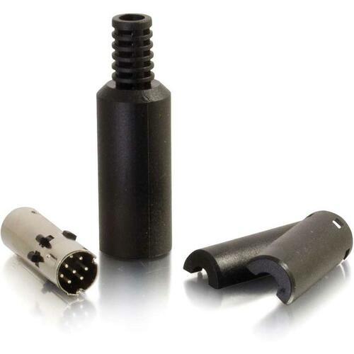 C2G 8-pin Mini Din Male Connector - Black
