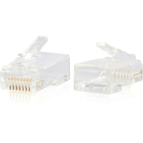 C2G RJ45 Cat6 Modular Plug For Round Solid/Stranded Cable   50pk 300/500