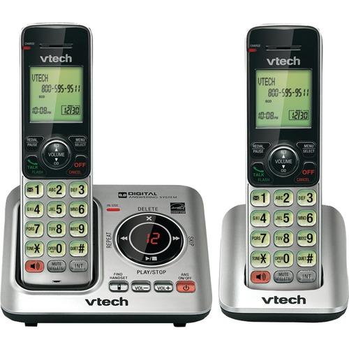VTech CS6629-2 DECT 6.0 1.90 GHz Cordless Phone - Silver