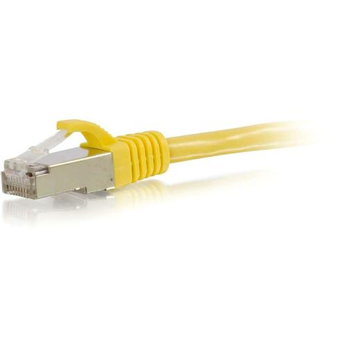 C2G 10ft Cat6 Snagless Shielded (STP) Network Patch Cable   Yellow 300/500