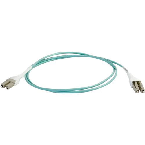C2G 3m LC Uniboot 10Gb 50/125 OM3 Duplex Multimode Fiber Cable - Aqua