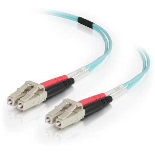 C2G 10m LC-LC 50/125 Duplex Multimode OM4 Fiber Cable - Aqua - 33ft