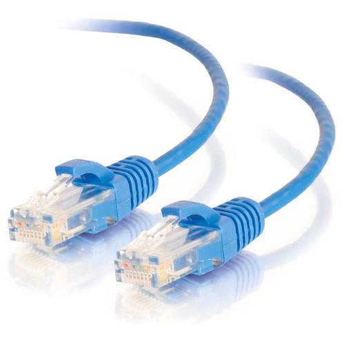 C2G 1.5ft Cat6 Ethernet Cable - Slim - Snagless Unshielded (UTP) - Blue