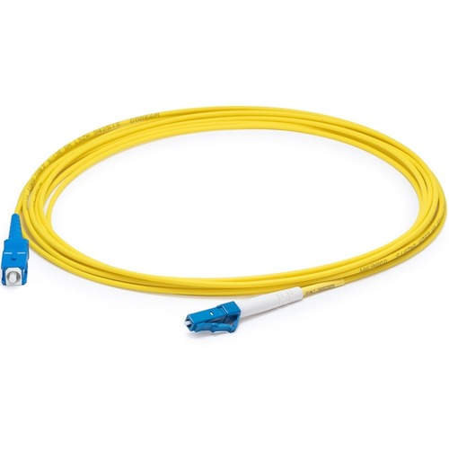 AddOn 5m LC (Male) to SC (Male) Yellow OS2 Simplex Fiber OFNR (Riser-Rated) Patch Cable