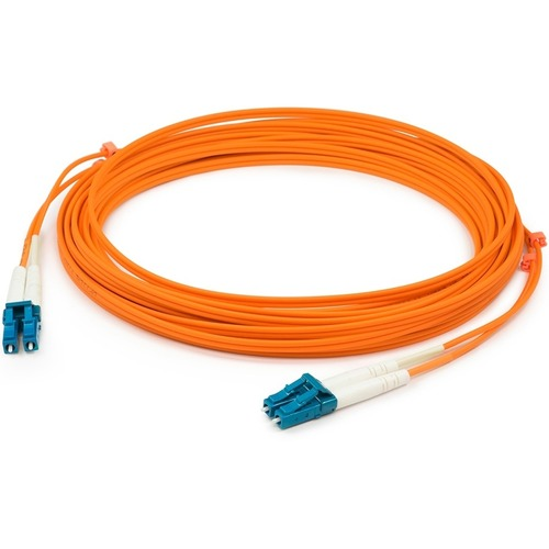 AddOn 15m LC (Male) to LC (Male) Orange OM1 Duplex Fiber OFNR (Riser-Rated) Patch Cable