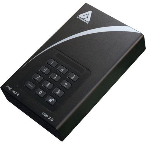 "Apricorn Aegis Padlock DT FIPS ADT-3PL256F-4000 4 TB Desktop Hard Drive - 3.5"" External - Black"