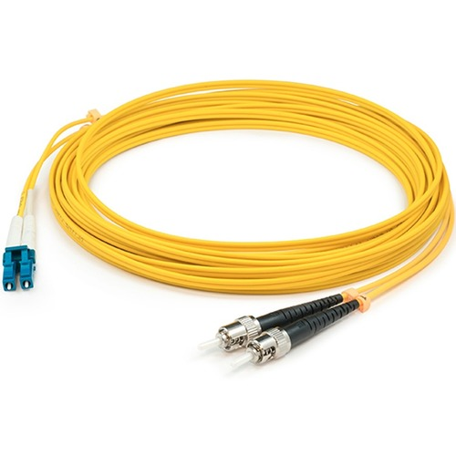 AddOn 1m LC (Male) to ST (Male) Yellow OS2 Duplex Fiber OFNR (Riser-Rated) Patch Cable