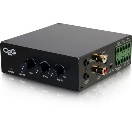 C2G 50W Audio Amplifier - Plenum Rated - 8 Ohm