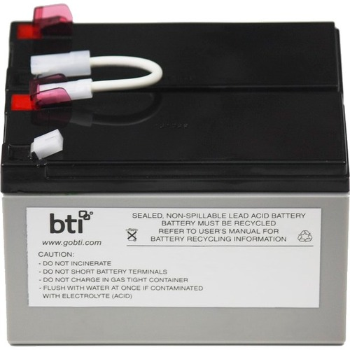 BTI Replacement Battery RBC109 for APC - UPS Battery - Lead Acid