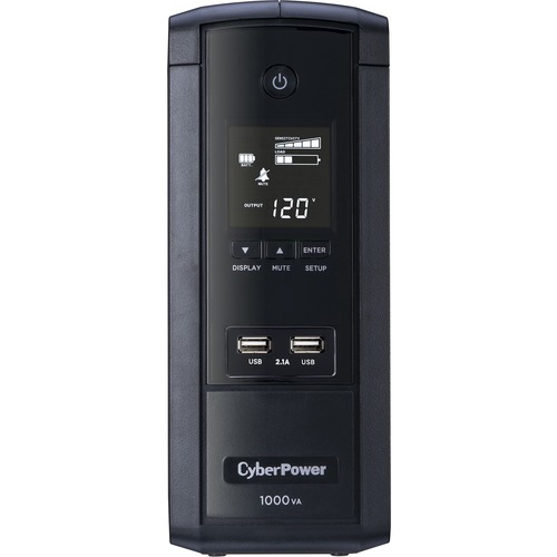 CyberPower UPS Systems BRG1000AVRLCD Intelligent LCD    Capacity: 1000 VA / 600 W 300/500
