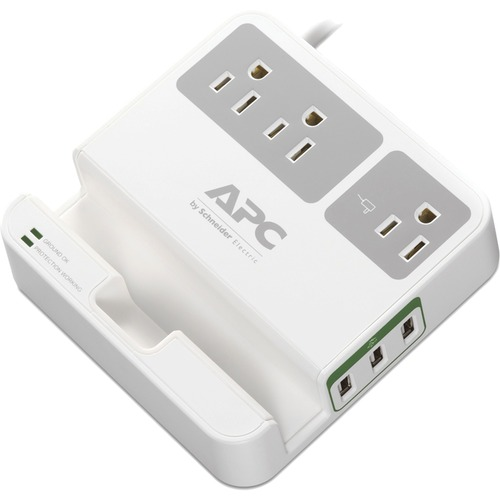 APC By Schneider Electric Essential SurgeArrest, 3 Outlets, 3 USB Charging Ports, 120V 300/500