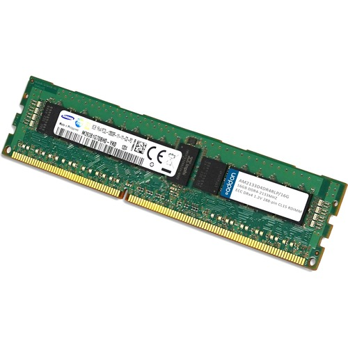 AddOn AM2133D4DR4RLP/16G x1 JEDEC Standard Factory Original 16GB DDR4-2133MHz Registered ECC Dual Rank x4 1.2V 288-pin CL15 RDIMM