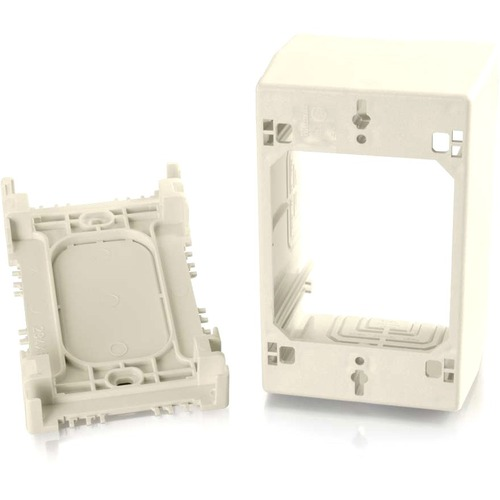 C2G Wiremold Uniduct Single Gang Extra Deep Junction Box - Ivory