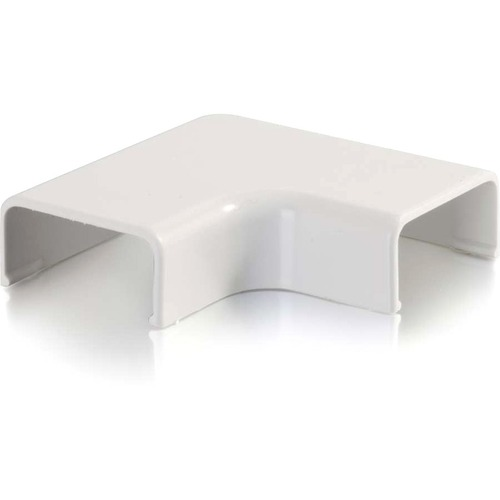 C2G Wiremold Uniduct 2800 9 Flat Elbow - White