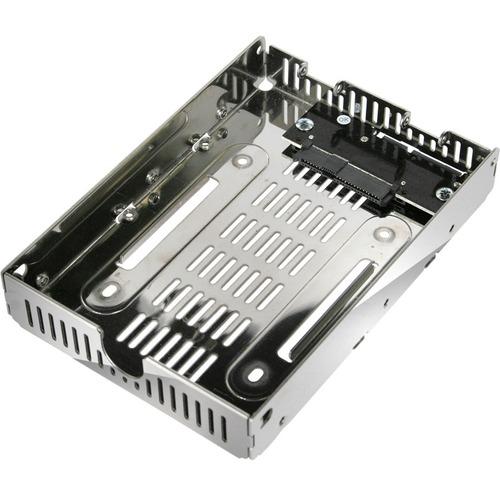 "Icy Dock EZConvert Air Lite MB482SP-3B Drive Bay Adapter for 3.5"" Internal - Chrome"