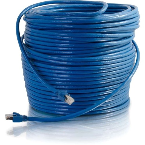 C2G 75ft Cat6 Ethernet Cable - Snagless Solid Shielded - Blue