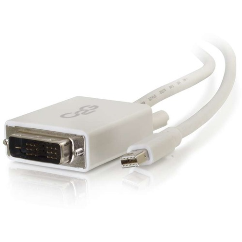 C2G 3ft Mini DisplayPort To DVI Cable   Single Link DVI D Adapter   White 300/500